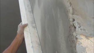 Цементно  песчаная штукатурка без маяков(Мой сайт:http://rem-kwart.com/ Штукатурка из ЦПС по облицовочному кирпичу и бетону тонким слоем без маяков. Помещение..., 2014-08-21T20:18:51.000Z)
