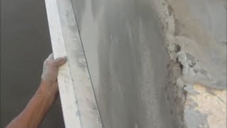 Цементно  песчаная штукатурка без маяков