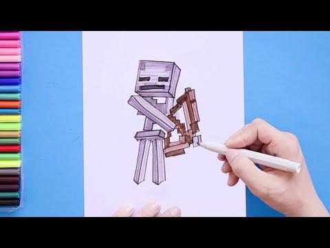 How To Draw Skeleton (Minecraft)