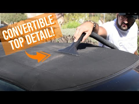 HOW TO CLEAN CONVERTIBLE TOP: Super Easy Convertible Top Cleaning!