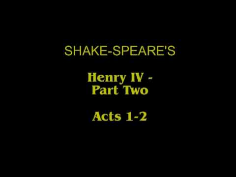 Shake-speare's Henry IV-Part 2- Acts 1-2