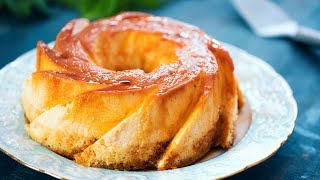 flan cake cream cheese flan with vanilla cake and caramel topping