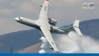 Бе-200 тушит дом | Russian plane BE200 sprays fire