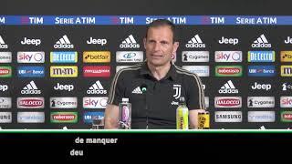 Juventus : Allegri confirme la blessure de Cristiano Ronaldo