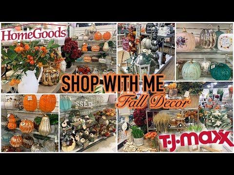 FALL DECOR SHOP WITH ME | TJ MAXX & HOMEGOODS