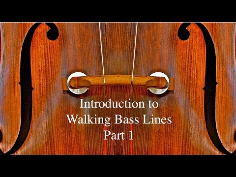 Walking Bass Lines, Part 1: Introduction