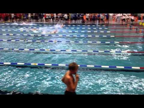 100m Rücken Finale Sprintcup Hamburg 2014