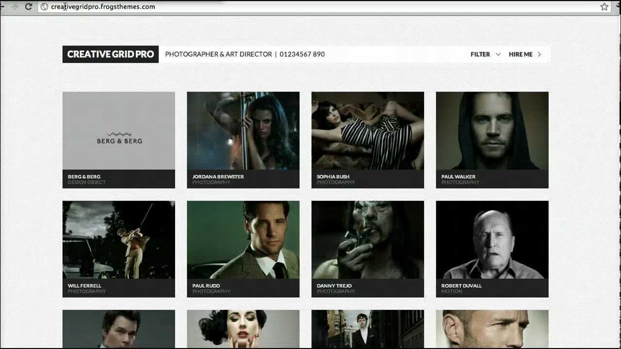 Creative Grid Pro Review: A Minimal WordPress Portfolio Theme - YouTube