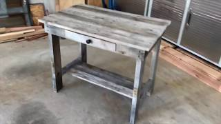How to Build a Pallet Wood Desk