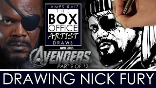 AVENGERS AGE OF ULTRON Part 9 of 12: DRAWING SAMUEL L. JACKSON AS NICK FURY