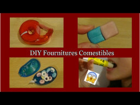 diy fournitures scolaires comestibles just diy youtube. Black Bedroom Furniture Sets. Home Design Ideas
