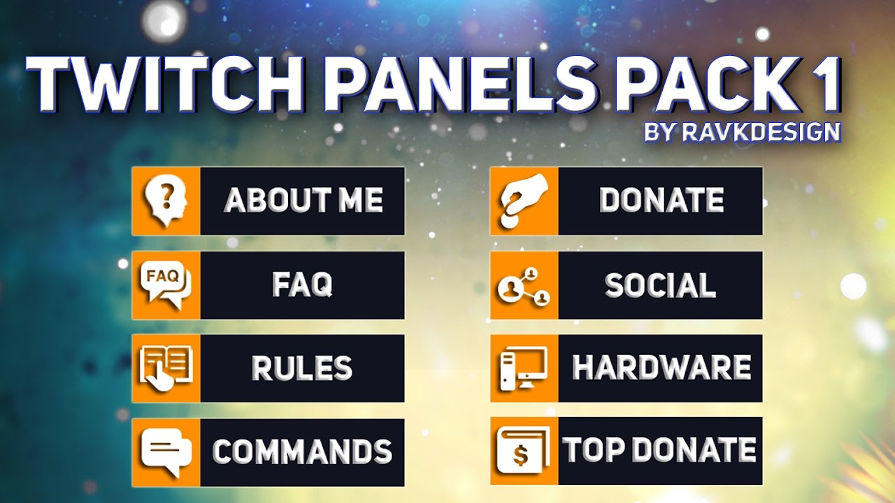 free twitch panels buttons