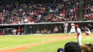 KEN GRIFFEY JR gets walked - CLEVELAND INDIANS vs CINCINNATI REDS 5/19/07 JACOBS FIELD