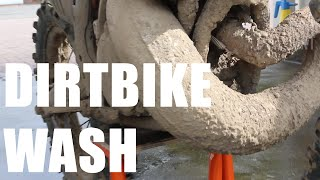 How to wash a Dirtbike /// before and after /// Part 1/2 - 1080p
