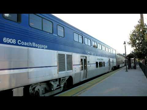 Amtrak Pacific Surfliner passes San Diego Old Town station