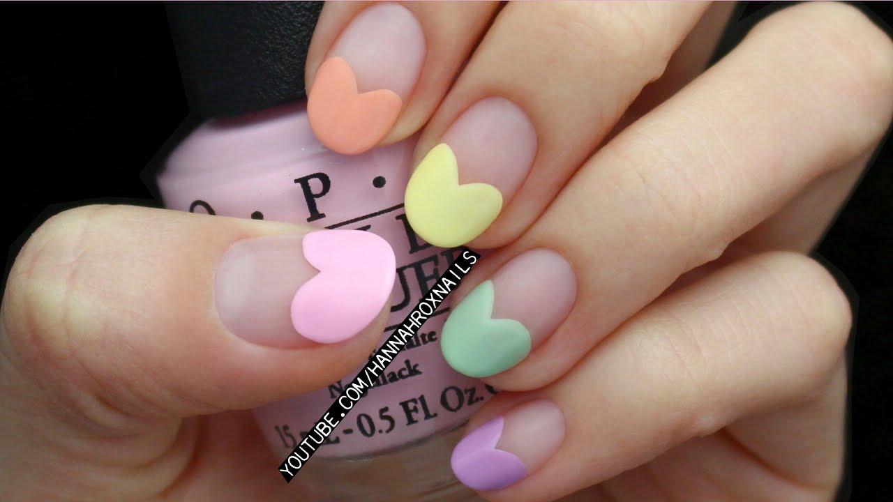 Valentines Candy Heart Nails NO TOOLS YouTube
