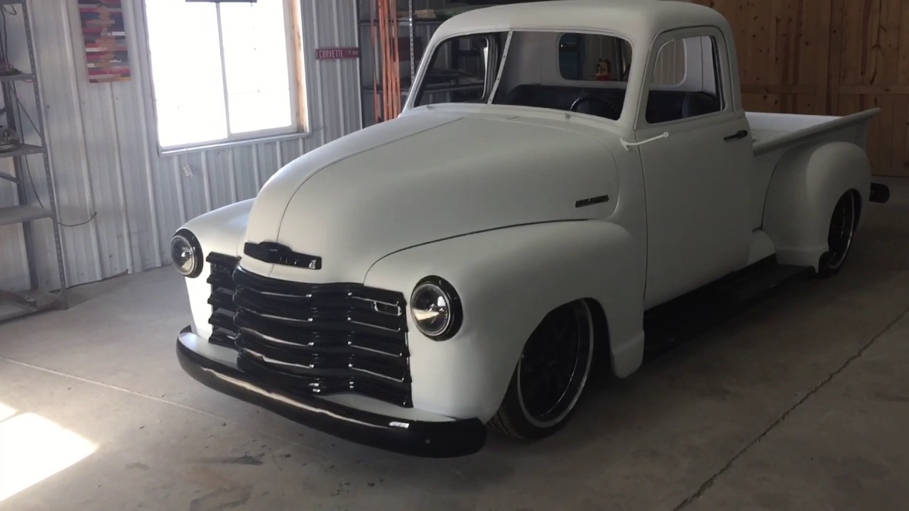 1952 Chevy 3100 Slammed And Matte White Youtube