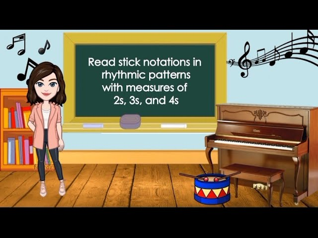 Music W3 Read Stick Notations In Rhythmic Patterns With Measures Of 2s 3s 4s Youtube