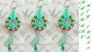 Simple Macrame Key chain/waste macrame flower key chain with out knot and with out piping