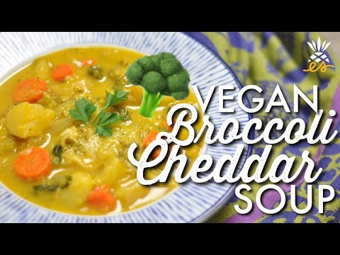 Instant Pot Vegan Broccoli Cheddar Soup | Low-fat, Plant-based