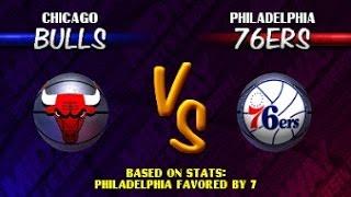NBA Hangtime ARCADE Playthrough - Chicago Bulls vs Philadelphia 76ers