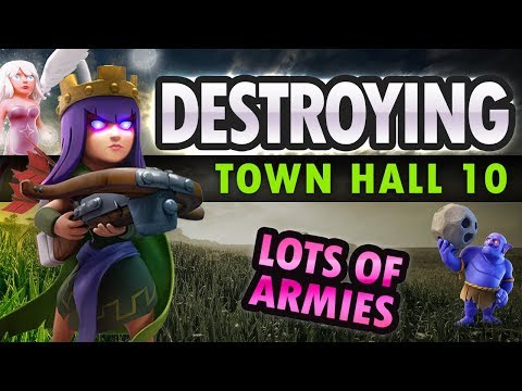 Clash of Clans: DESTROYING TH10s - Loads of Army Options!