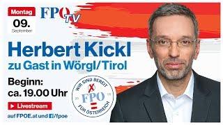 Komplettaufzeichnung: Abendveranstaltung mit Herbert Kickl in Wörgl/Tirol
