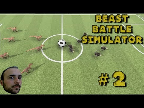 Raptor vs Deve Kuşu Futbol Maçı - Beast Battle Simulator # 2