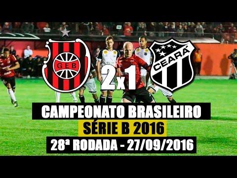 G.E.Brasil 2X1 Ceará - Campeonato Brasileiro Série B - 28/09/2016
