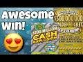 BIG WIN! 6 WINS ON 1 TICKET! $30 Golden Ticket (Missouri) & $10 Cash Explosion Texas Lottery