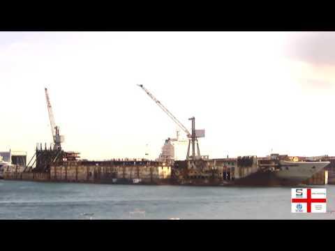 Time lapse Costa Concordia HD