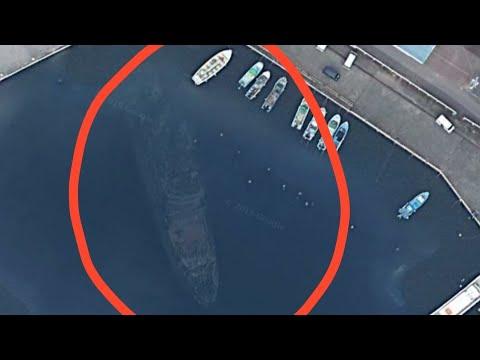 Mysterious ship found in google map( Japan, izu oshima)