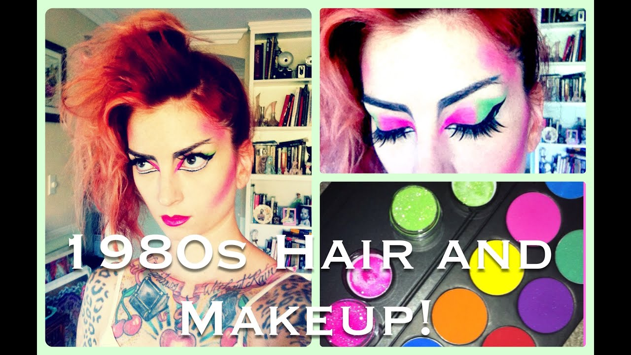 1980s Punk Hair Makeup Halloween Tutorial By CHERRY DOLLFACE YouTube