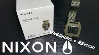 NIXON BASE TIDE NYLON (UNBOXING + REVIEW)