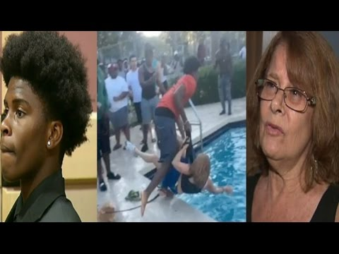 Ratchet FL~16yr old boy turns himself in for throwing 68yr old Nancy James in the pool