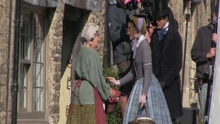 Doctor Thorne. Cast And Crew  Filming On Location At Castle Combe.