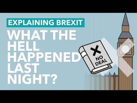 MPs Reject a No Deal Brexit - Brexit Explained