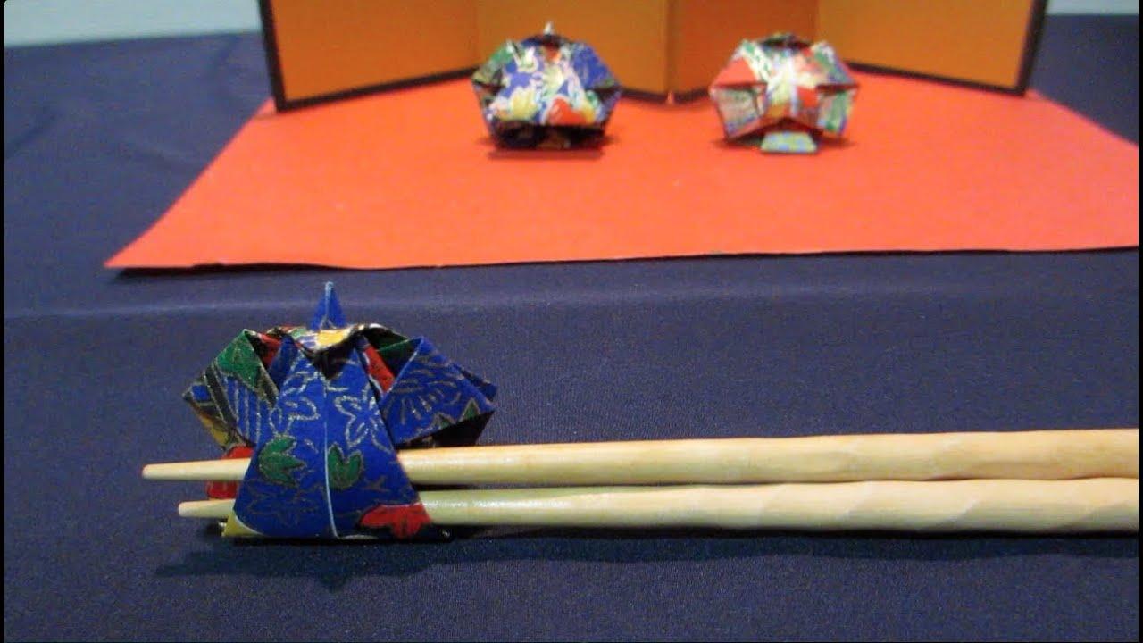 すべての折り紙 折り紙で作る箸置き : 折り紙で作る箸置き~3月おひな ...