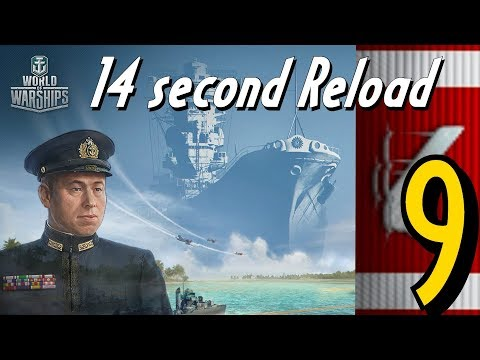 Yamato 9 kill  14 second YAMAMOTO reload Hell || World of Warships