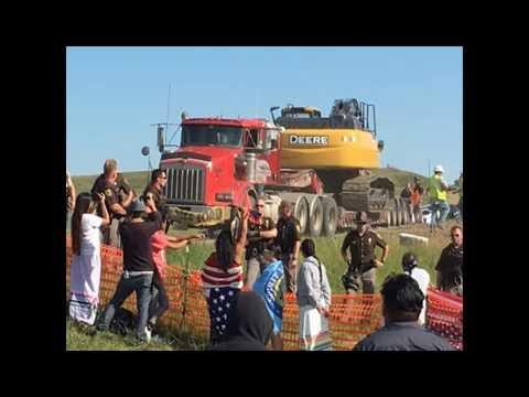 Standing Rock Sioux Protest Bakken Pipeline, North Dakota.