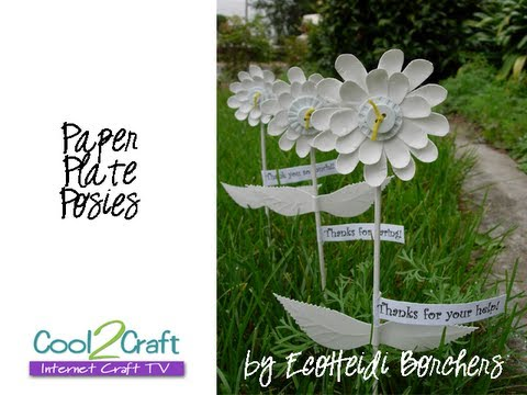sc 1 st  YouTube & How to Make Paper Plate Flowers by EcoHeidi Borchers - YouTube