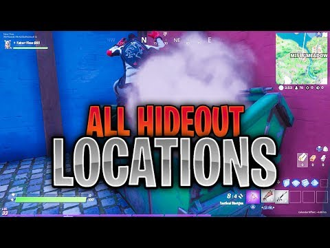 Deal Damage Within 10 Seconds Of Leaving A Hideout - ALL HIDEOUT LOCATIONS (Hide Inside Hideouts)
