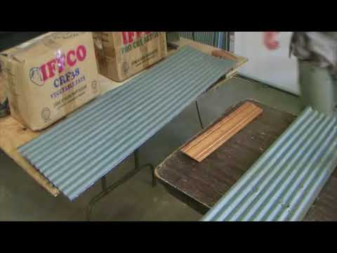 Garage Wall Corrugated Steel Wainscot Install Part 2