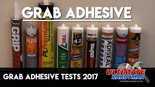 Grab adhesive tests 2017