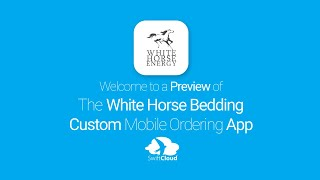 White Horse Bedding - Mobile App Preview - WHB905W
