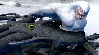 NEW YETI vs GIANT SNAKES - Beast Battle Simulator Gameplay | Pungence