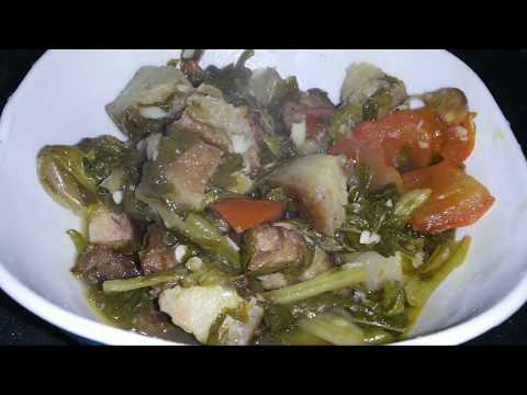 Pork with Lai xaak|| Naga style || totally boiled||