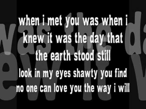 718 - The day earth stood still. Lyrics on screen .