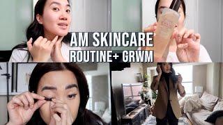 Morning Skincare Routine + GRWM for Work | reesenguyenn