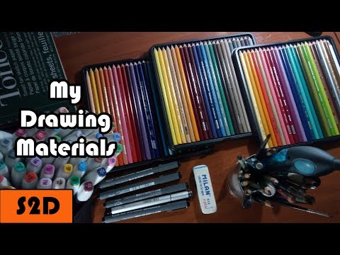 My Drawing Materials/Supplies | Pencils, Pens, Paper, Colors...